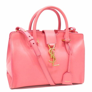 Saint Laurent Handbag Bag Baby Kabas Ladies Pink Leather 400914 2WAY Shoulder
