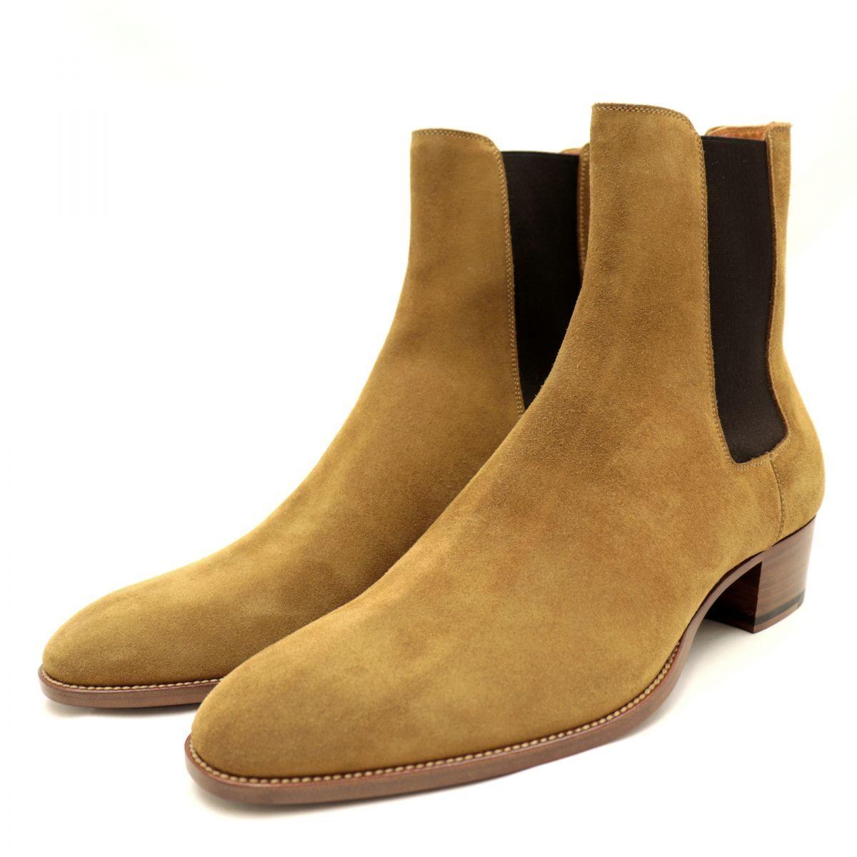 goa Saint Laurent Paris 20AW Classic Wyatt 40 Suede Chelsea Boots Men's Brown 44 Side Gore WYATT