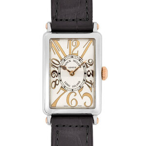 Franck Muller Long Island Relief Stainless Steel PG Ladies Watch Quartz Silver Dial 902QZ REL ST G