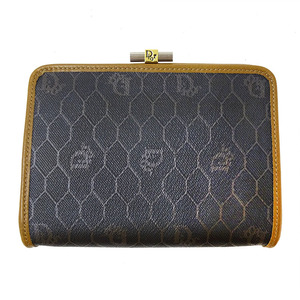 Christian Dior Pouch PVC Leather Brown Gray Ladies
