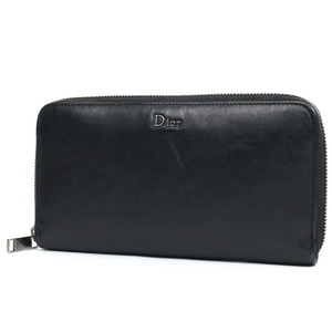クリスチャン・ディオール(Christian Dior) Dior ディオール 長財布 ブラック レザー