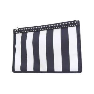 ジバンシィ(Givenchy) GIVENCHY ジバンシィ ストライプ スタッズ セカンドバッグ ブラック ホワイト クラッチ