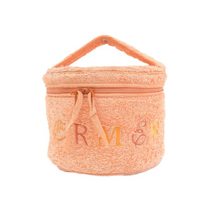 エルメス(Hermes) HERMES エルメス ロゴ刺繍 ヴィンテージ バニティ パイル オレンジ ハンドバッグ
