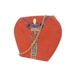 カルティエ(Cartier) CARTIER カルティエ ロゴマーク  チェーンバッグ サテン レッド スカーフパターン