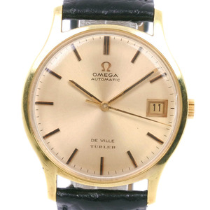 OMEGA Omega Devil TURLER W name cal.1002 162.046 Stainless steel leather gold self-winding men's dial watch