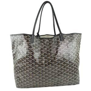 GOYARD Goyard Saint Louis GM PVC Black Unisex Shoulder Bag