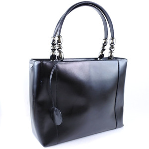 Christian Dior Dior Christian Calf Leather Black Women's Handbag