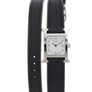 Hermes H Watch Mini Ladies Double Tour Stainless Steel Epson Quartz HH1.110