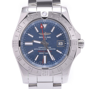 BREITLING Breitling Avenger 2 GMT A32390 C930 Men's Stainless Steel Watch Automatic Blue Shell Dial