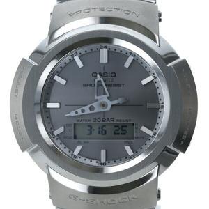 カシオ CASIO G-SHOCK AWM-500D-1A8JF ソーラー シルバー文字盤 メンズ 腕時計