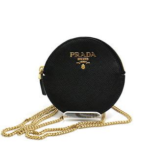 PRADA Prada Chain Strap Round Pouch Bag 1MR074 Black