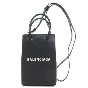 Balenciaga 593826 Shopping Phone Shoulder 2WAY Bag Leather Ladies