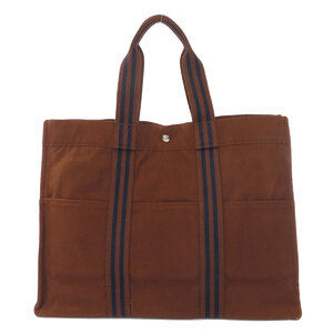 Hermes Sack Fool Toe GM Tote Bag Canvas Ladies