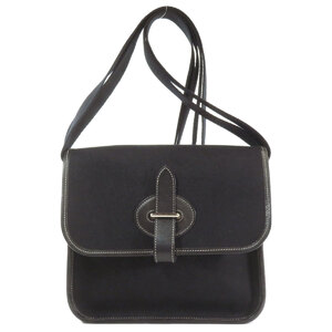 Hermes Buena Ventura Mini Shoulder Bag Canvas Ladies