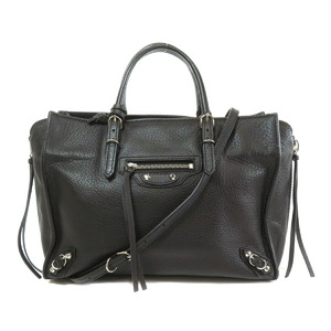 Balenciaga 370926 Paper Mini Tote Bag Leather Ladies