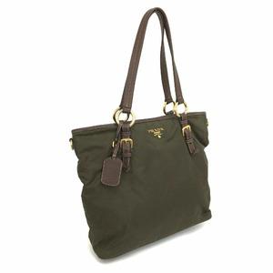 Prada Shoulder Bag 2WAY Nylon Khaki Men's Women's Unisex