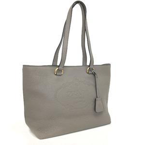 Prada Tote Bag Vittello Phoenix 1BG100 Leather ARGILLA Greige Ladies