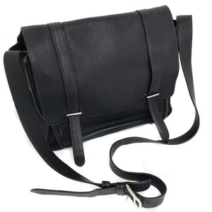 Hermes Shoulder Bag Steve Buzath Taurillon Clemence Black Men