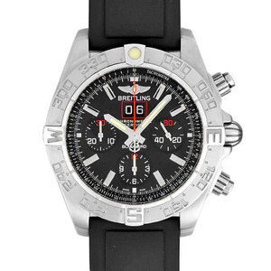 Breitling BREITLING Chronomat Blackbird Chronograph Stainless Steel Men's Watch Automatic Black Dial A440B71RPR 2000 Limited