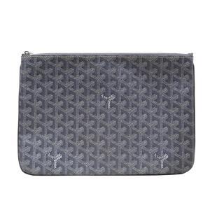 GOYARD Goyard Clutch Pouch Ladies Second Bag Gray PVC Coating