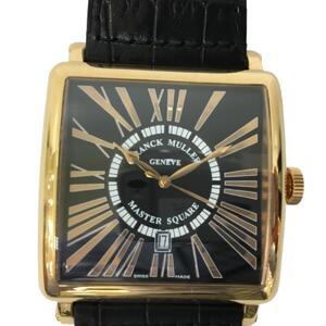 FRANCK MULLER Franck Muller Master Square King Relief Watch Men's Automatic K18PG 750 Pink Gold Leather 6000K SCDTR