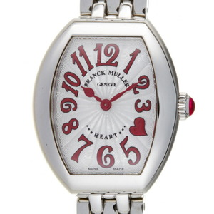 Franck Muller Heart to Ladies Watch 5002 S QZ C4HJRED Stainless Steel Silver Arabian Dial