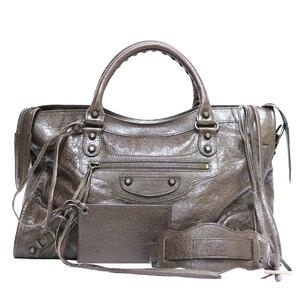 BALENCIAGA Balenciaga Shoulder Bag The First 2way Handbag Brown Women's Leather