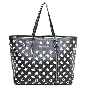 JIMMY CHOO Shoulder Bag 2way Tote Black Women's Leather