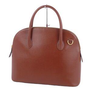 Celine CELINE Triomphe Logo Zipper Women's Handbag Tote Bag Leather Vintage Brown