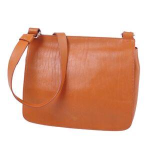 HIROFU H logo leather ladies shoulder bag body brown
