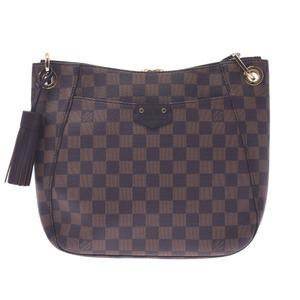 LOUIS VUITTON Louis Vuitton Damier South Bank Brown Red N42230 Ladies Canvas Shoulder Bag New