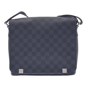 LOUIS VUITTON Louis Vuitton Damier Graffit District PM NM Black N41028 Men's Canvas Shoulder Bag