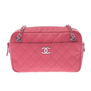 CHANEL Chanel Matrasse Chain Shoulder Pink Silver Hardware Ladies Caviar Skin Bag New
