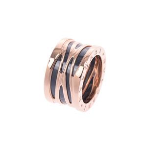 BVLGARI B-ZERO Legend 356023 No. 10 Unisex K18PG Black Ceramic Ring /