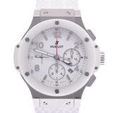 HUBLOT Hublot Big Bang St. Moritz 301.SE.230.RW Men's White Ceramic Stainless Steel Rubber Wrist Watch Automatic Dial