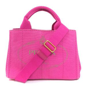 Prada B2439G Canapa Mini Tote Bag Canvas Ladies