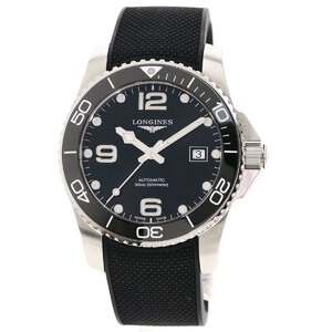 Longines L3.781.4 HydroConquest Watch Stainless Steel Rubber Men
