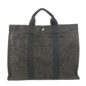 Hermes Aleline MM Tote Bag Canvas Ladies
