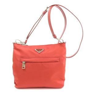 Prada 1BH023 Logo Plate Shoulder Bag Nylon Ladies