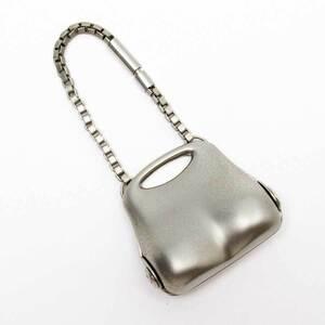 Chanel CHANEL Keychain Charm Hip Bag Motif Matte Silver
