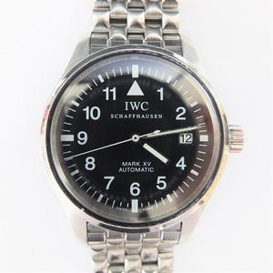 International Watch Company IWC Pilot's Mark 15 Crown Self-winding XV MARK Stainless Steel Black Dial Men's