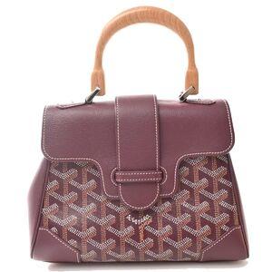 Goyard GOYARD Saigon Mini Handbag Purple PVC
