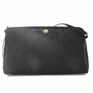 Christian Dior Canvas Trotter Shoulder Bag Pouch Black