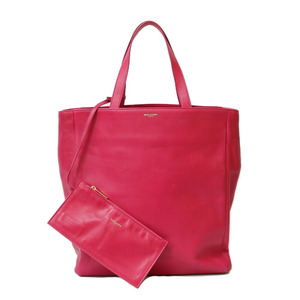 SAINT LAURENT shoulder bag tote pink ladies leather