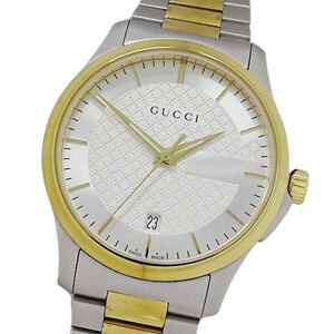 Gucci GUCCI Watch 126.4 YA126474 G Timeless Quartz Date Men