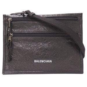Balenciaga BALENCIAGA Explorer Sakosh Shoulder Bag Unisex Leather Black 618379