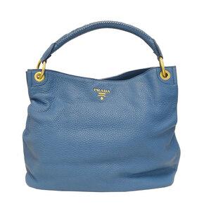 Prada PRADA One Shoulder Bag Leather Blue