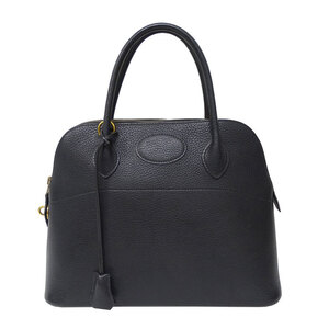Hermes HERMES Bored 31 Handbag Vaux Epson Black
