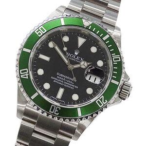 Rolex ROLEX Watch 16610LV M Submariner Date Green Bezel Roulette Self-winding Men's