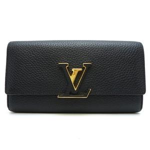 Louis Vuitton Portofeuil Capsine Women's Wallet M61248 Taurillon Clemence Noir Black